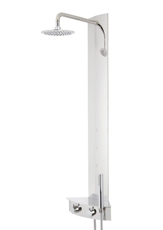 Colonne de douche d'angle thermostatique
