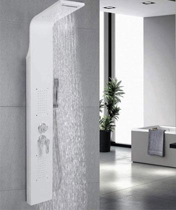 colonne de douche blanche