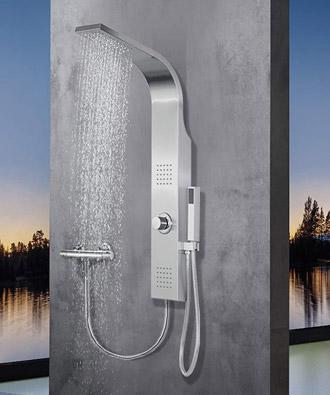 Colonne de douche sans robinet mitigeur en acier inoxydable